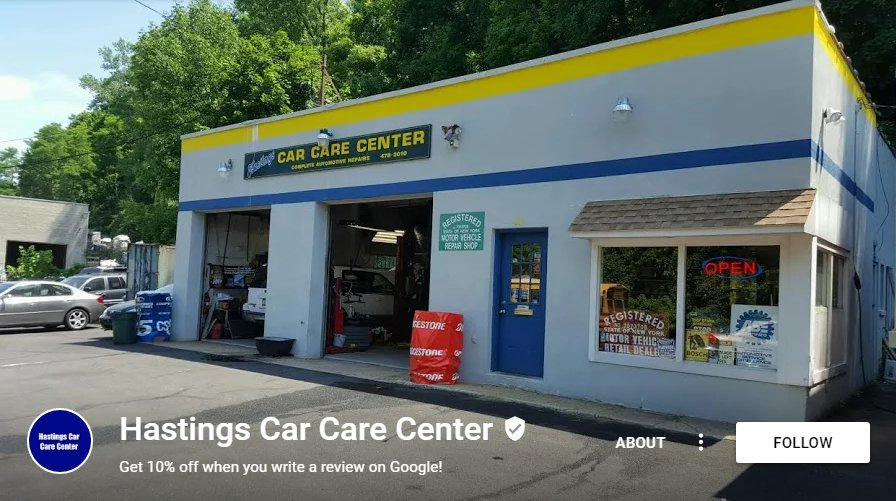 Car Care Center >> Hastings Car Care Center Auto Repair 40 Saw Mill River Rd