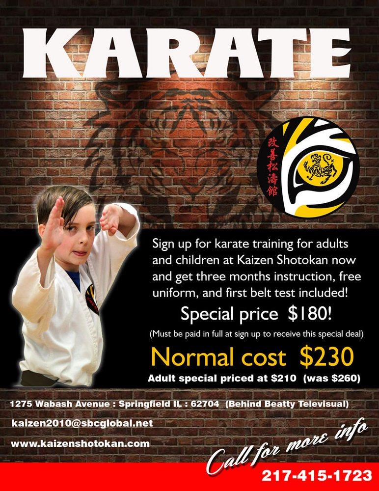 Kaizen Shotokan Karate: 1275 Wabash Ave, Springfield, IL