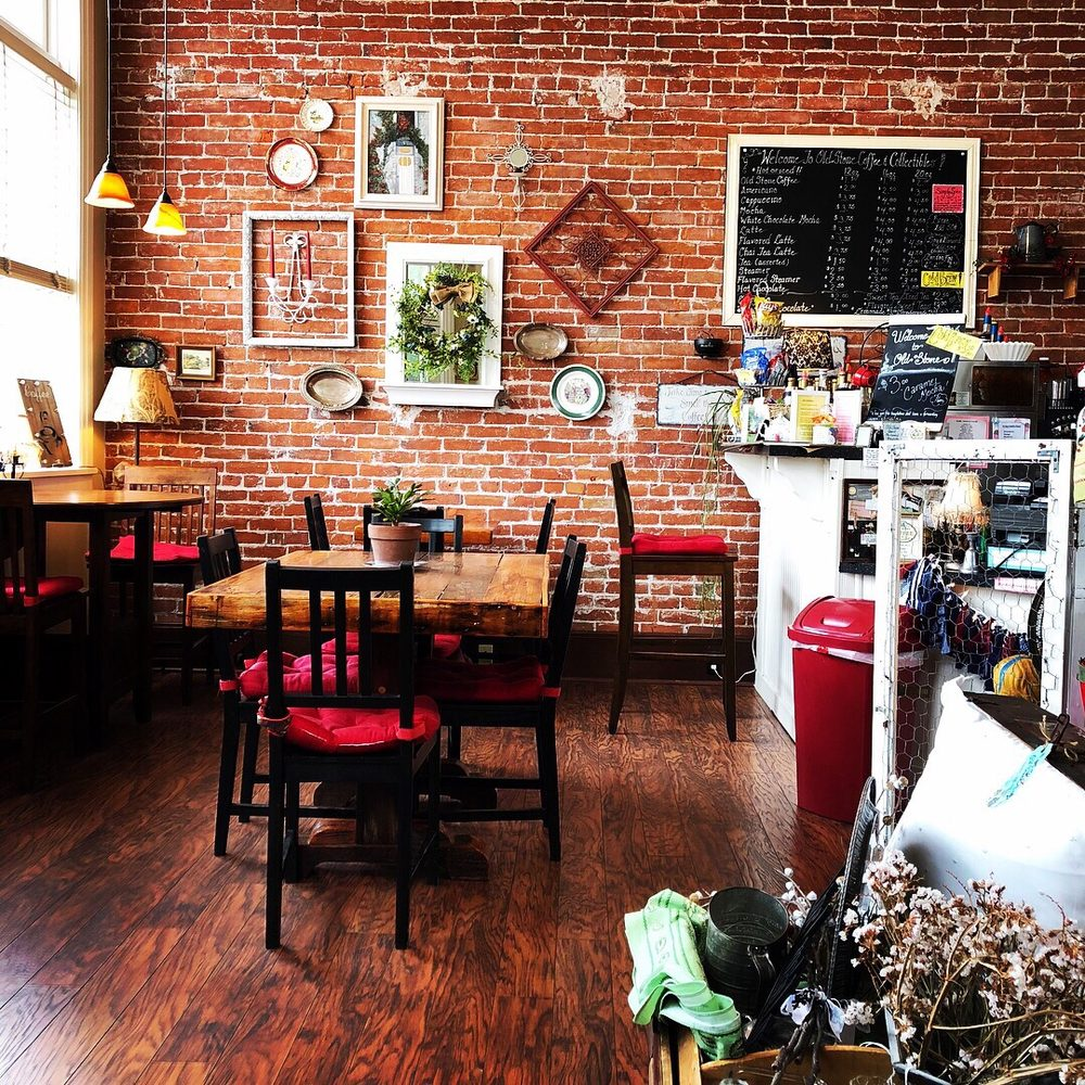 Old Stone Coffee & Collectibles: 95 N Main St, Mount Angel, OR