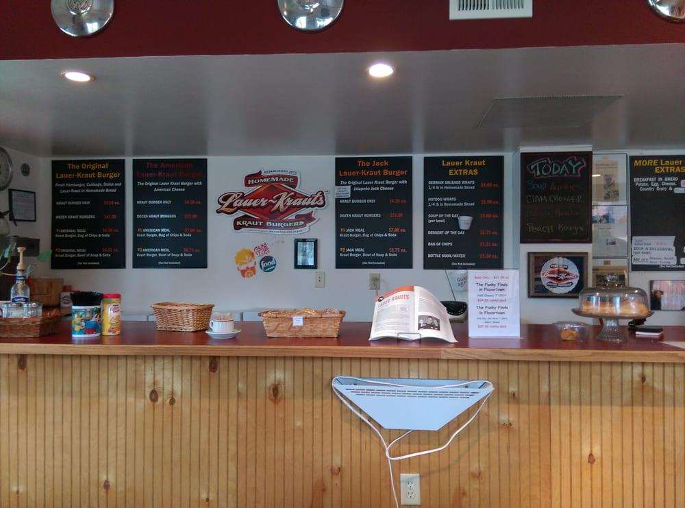 Lauer Krauts - Brighton, CO, United States. Easy to read menu...