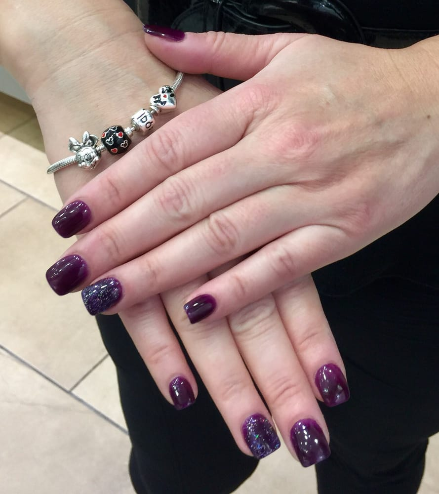 Nexgen nail polish. (Dark purple) The Red nail polish is Gel. - Yelp