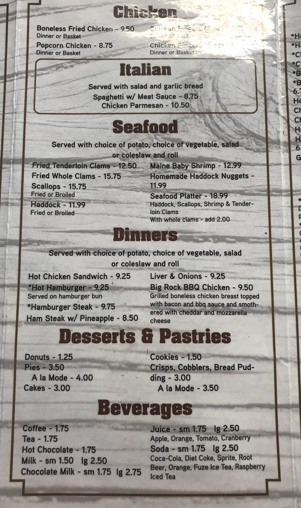 Als Diner Restaurant Mars Hill Maine