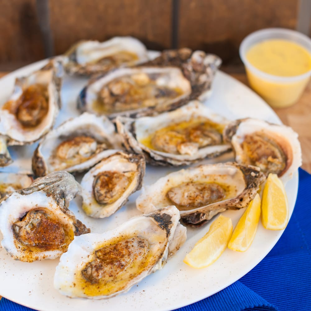 Oysters tossed in butter garlic yelp for Fish market tampa
