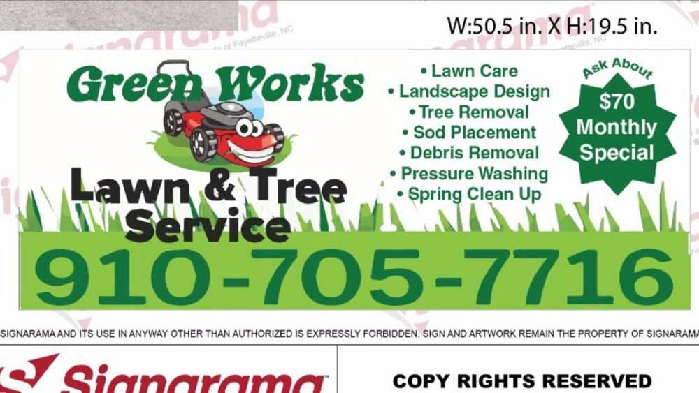 Green Works Lawn&Tree Service: 1851 Standberry St, Fayetteville, NC