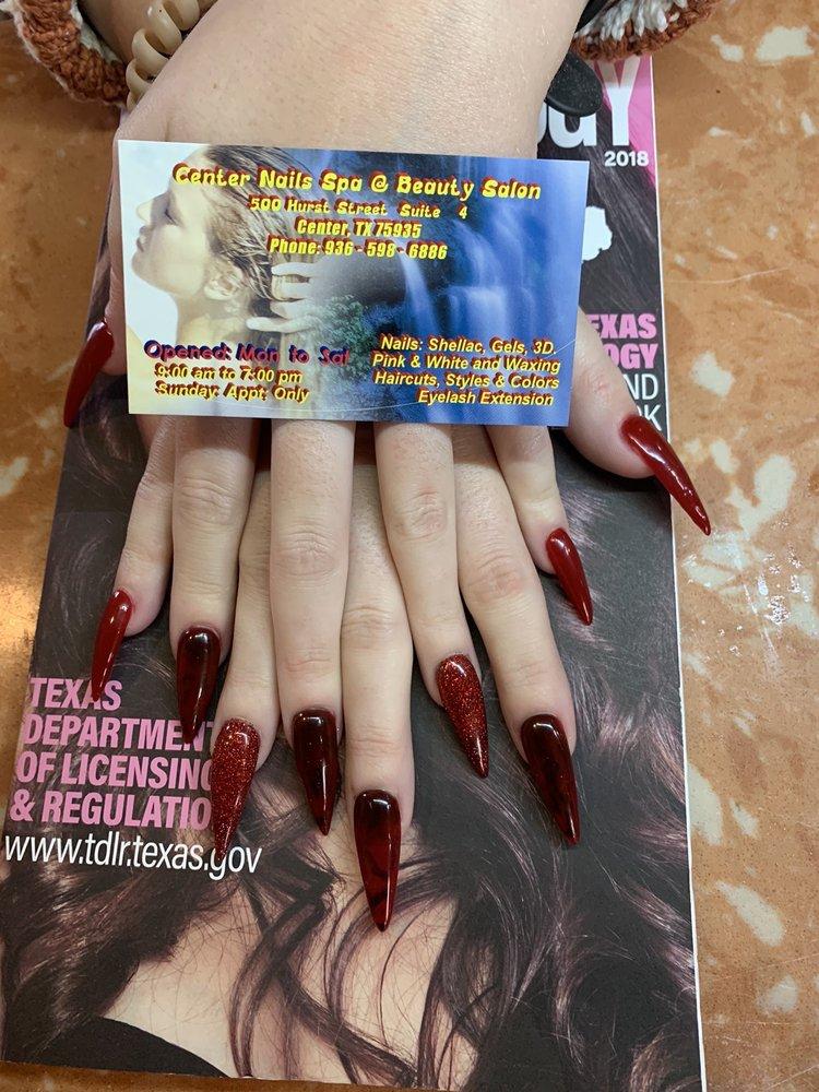 Center Nails Spa & Beauty Salon: 500 Hurst St, Center, TX