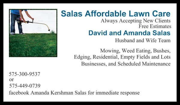 Salas Affordable Lawn Care - Tree Services - Carlsbad, NM - Phone ...