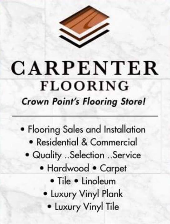 Carpenter flooring: 117 E Goldsborough St, Crown point, IN