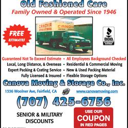 Photo Of Canova Moving U0026 Storage   Fairfield, CA, United States