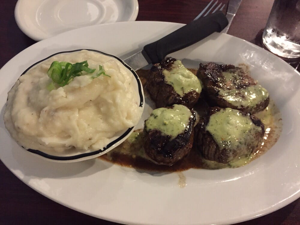 Steak tips and mashed potatoes yelp for Argentinean cuisine