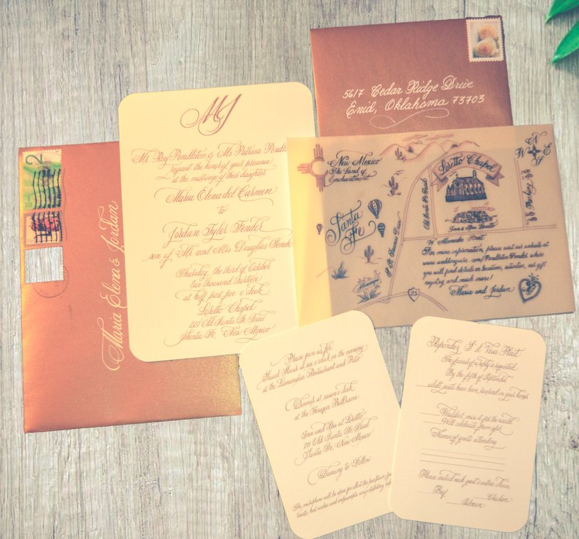 Photo Of Artistic Calligraphy Miami Fl United States Fabulous Wedding Invitations By