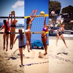 Photo Of Sun Set Beach Volleyball Santa Monica Ca United States