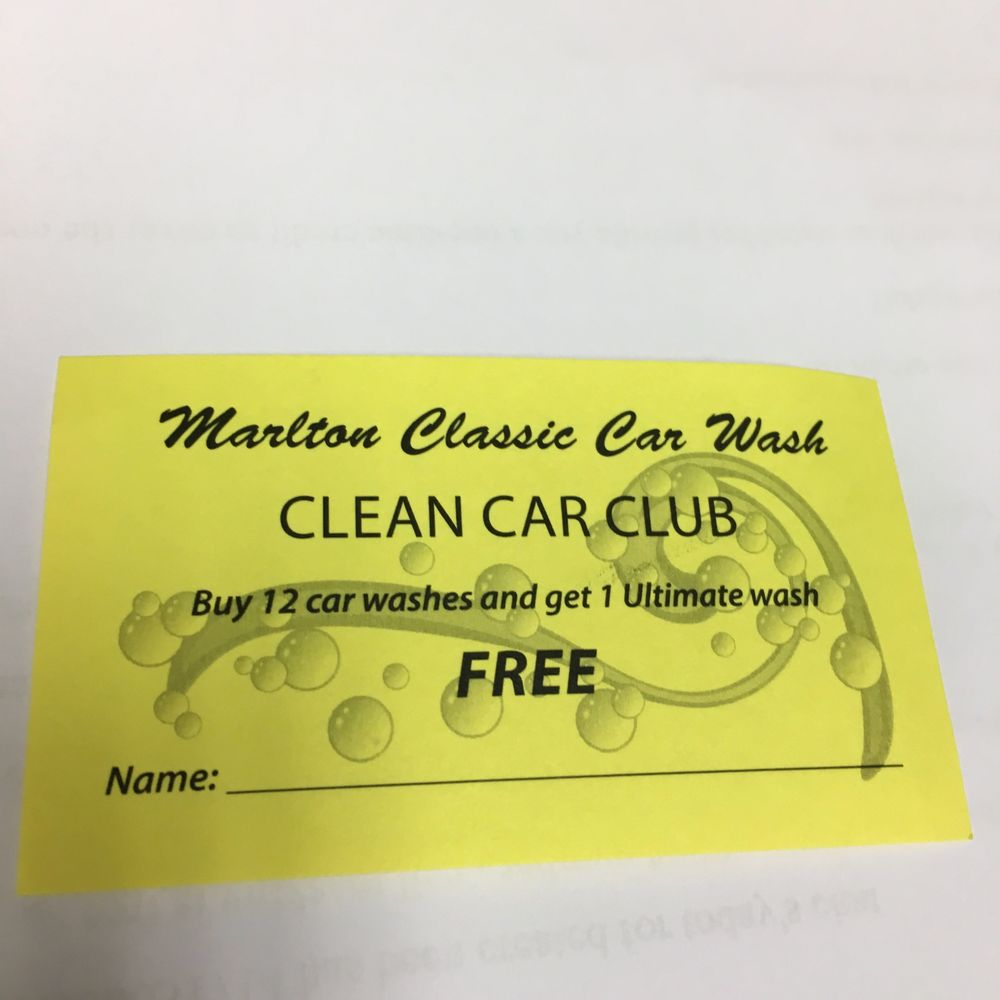Marlton Classic Car Wash And Lube