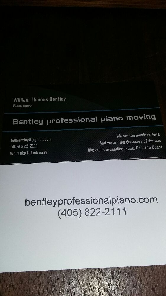 Bentley professional piano moving