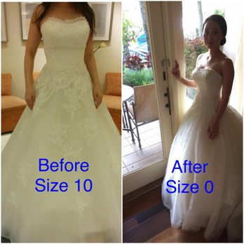photo of bridal fashions alterations wayland ma united states before