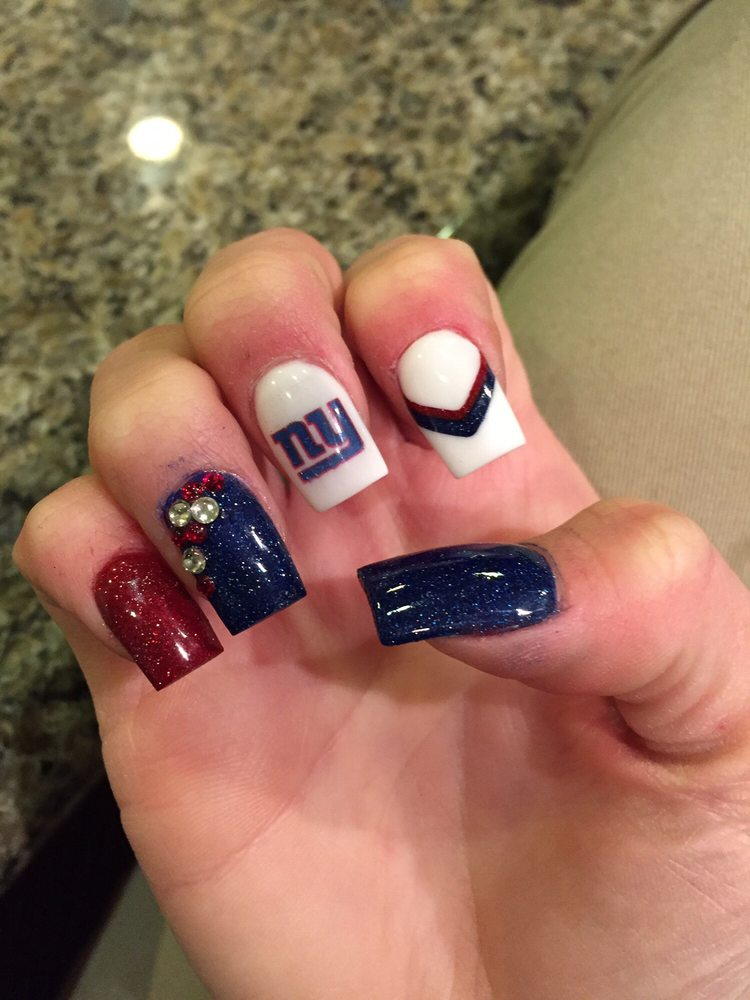 New York Giants nails by Tania - Yelp