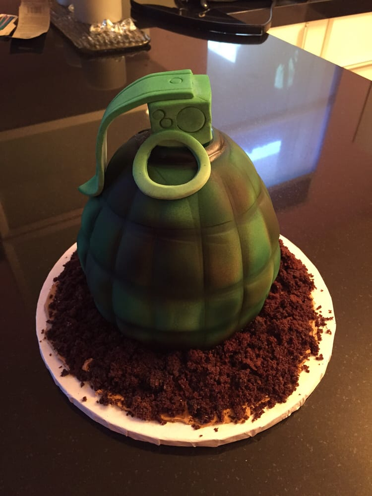 Grenade Army Birthday Cake Yelp