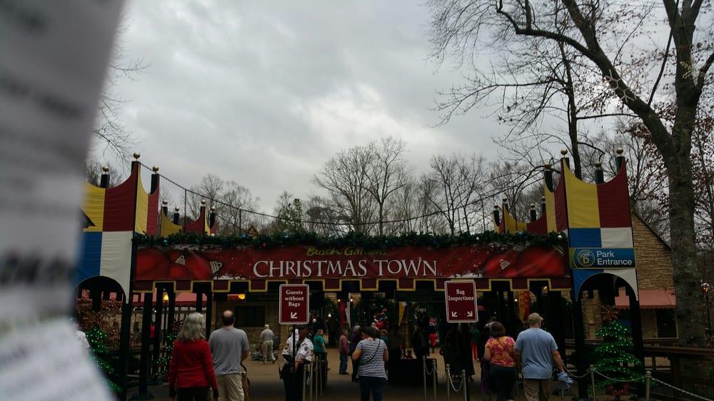 Christmas Town At Busch Gardens Williamsburg Va Yelp