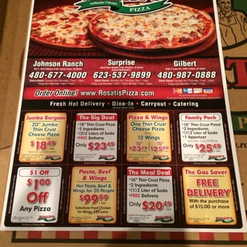Printable coupons for rosati's pizza