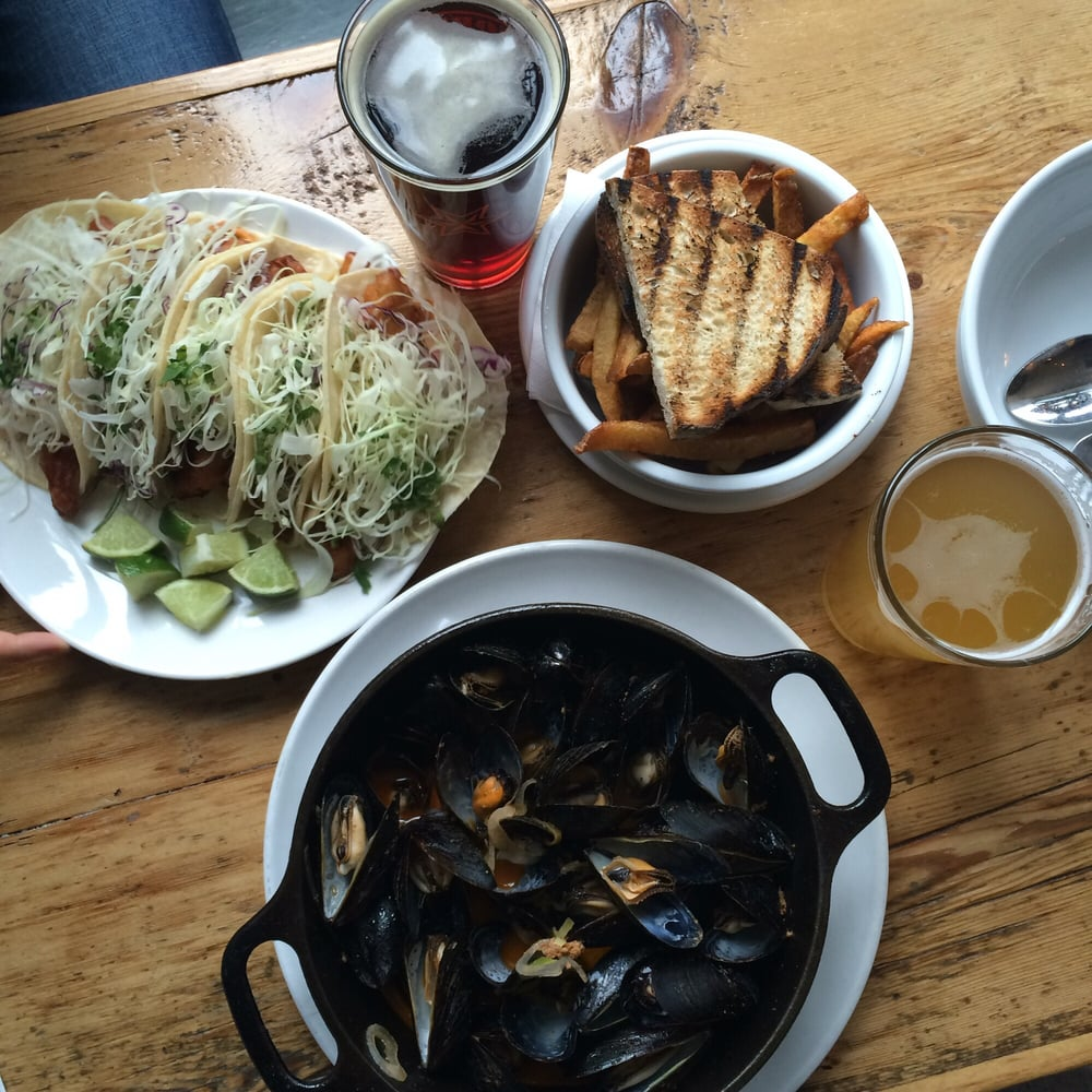 1 Fish Tacos On Mondays 16 Mussels And Fries Yelp