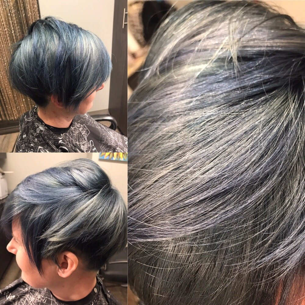 Navy Blue Hair With Undercut Sides And Back Yelp