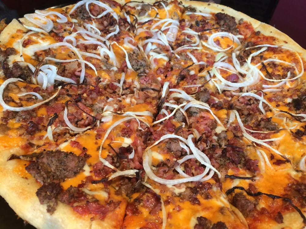 bacon double cheeseburger pizza yelp. Black Bedroom Furniture Sets. Home Design Ideas