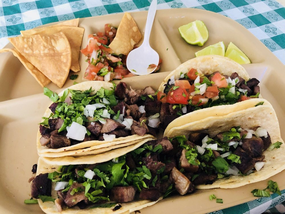Food from Aztec Grill & Grocery