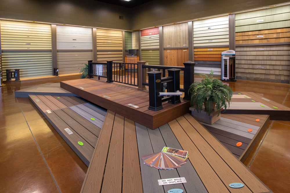 Lakeside Showroom Which Displays An Vast Array Of Siding