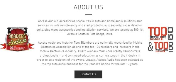 Access Audio and Accessories 500 1st Ave S Fort Dodge, IA Automobile