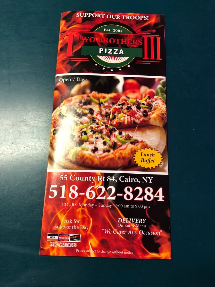 Two Brothers Pizza: 55 Country Rt 84, Cairo, NY