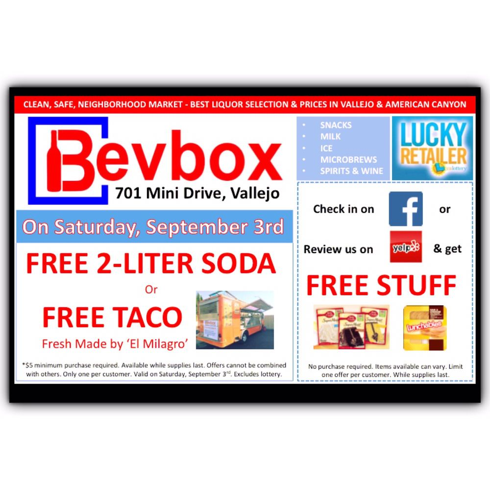 Bevbox: 701 Mini Dr, Vallejo, CA