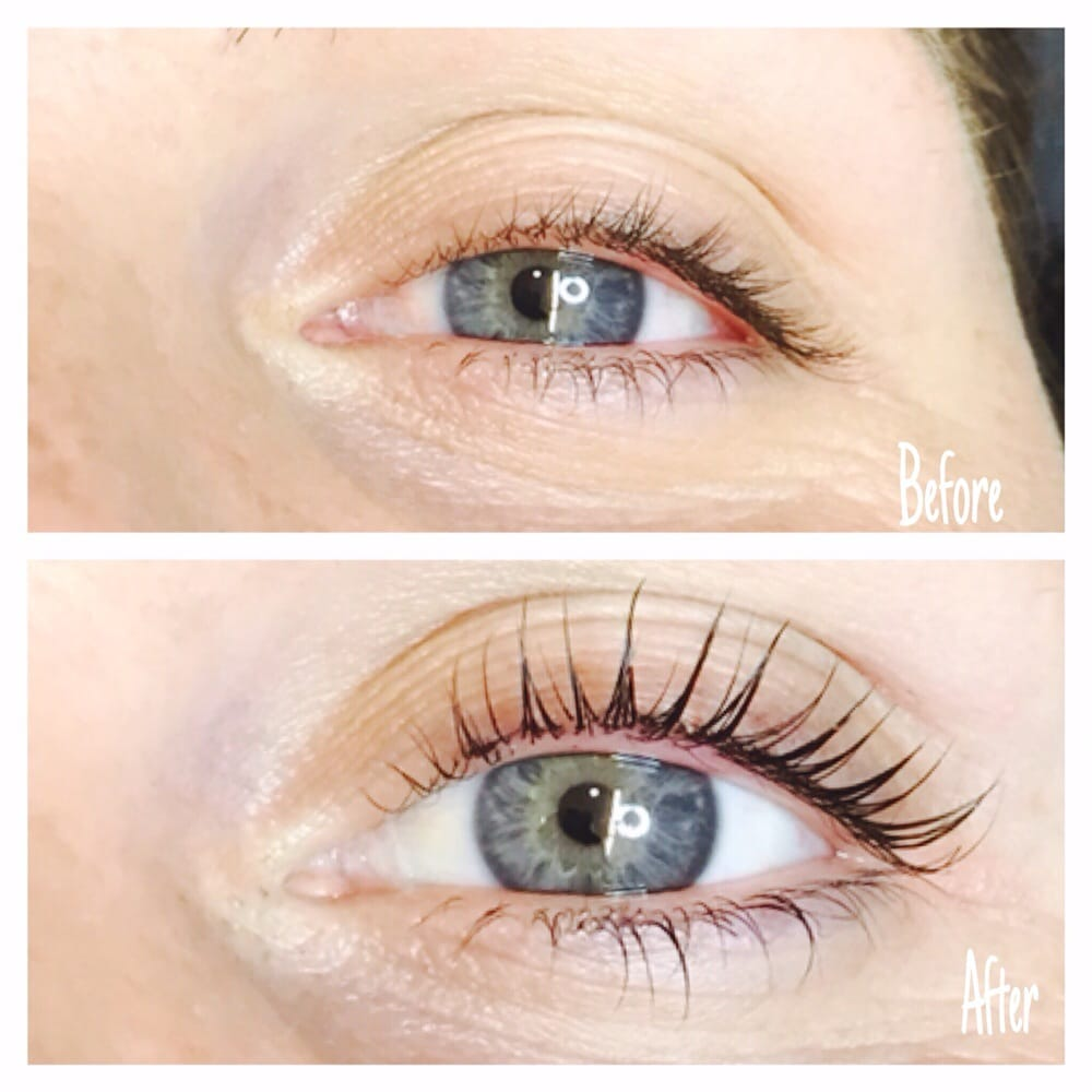 Before After Lash Tint And Lift Not Extensions Yelp