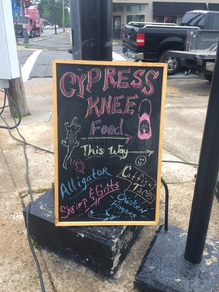 Cypress Knee Food: North Little Rock, AR