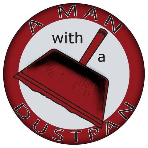 A Man With A Dustpan