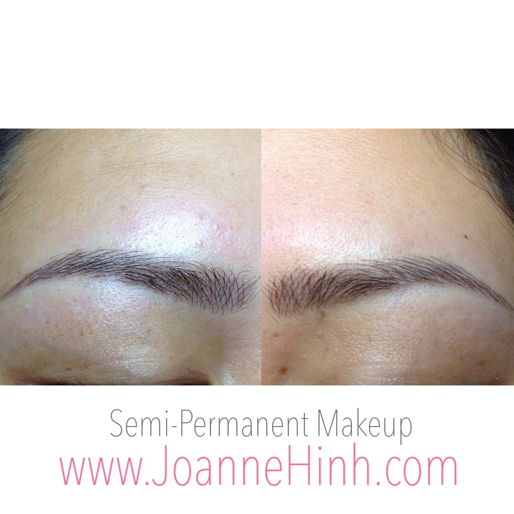 eyebrow embroidery 3d brow tattoo feathering by joanne