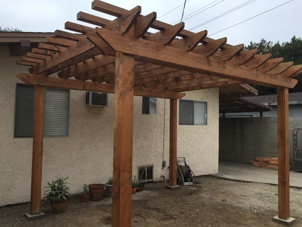 Photo of Covington Framing Construction - Los Angeles, CA, United States. Douglas  fir - Douglas Fir Pergola With Penofin Stain Applied - Yelp