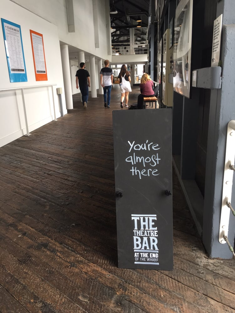 The Theatre Bar at the End of the Wharf