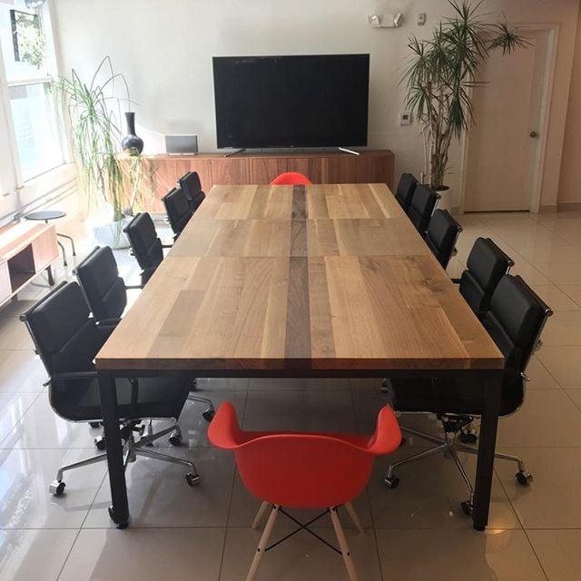 Saint Arbor Custom Pc Detachable Conference Table Oak And Walnut - Detachable conference table