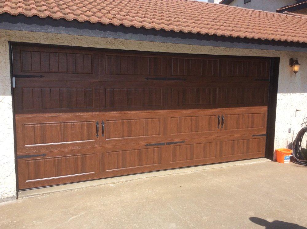 Discount Garage Doors this residential garage door has a bead board panel design in