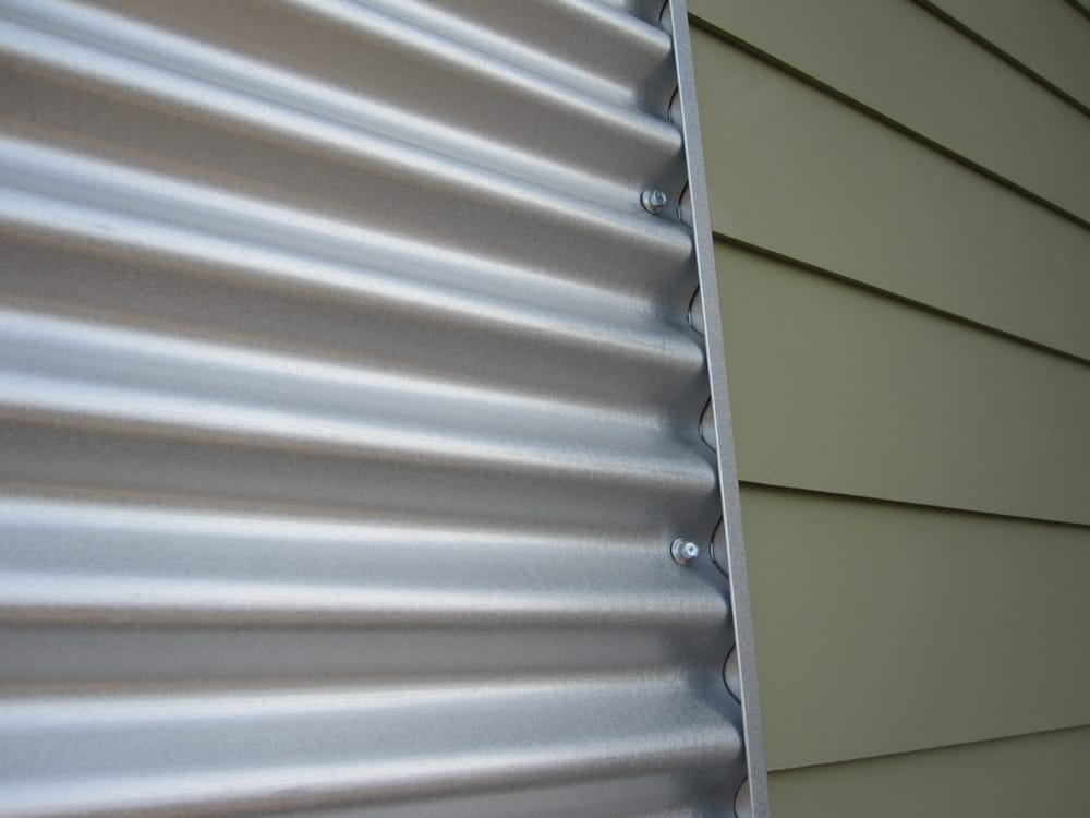 Custom Corrugated Metal Siding With Vinyl Siding Yelp