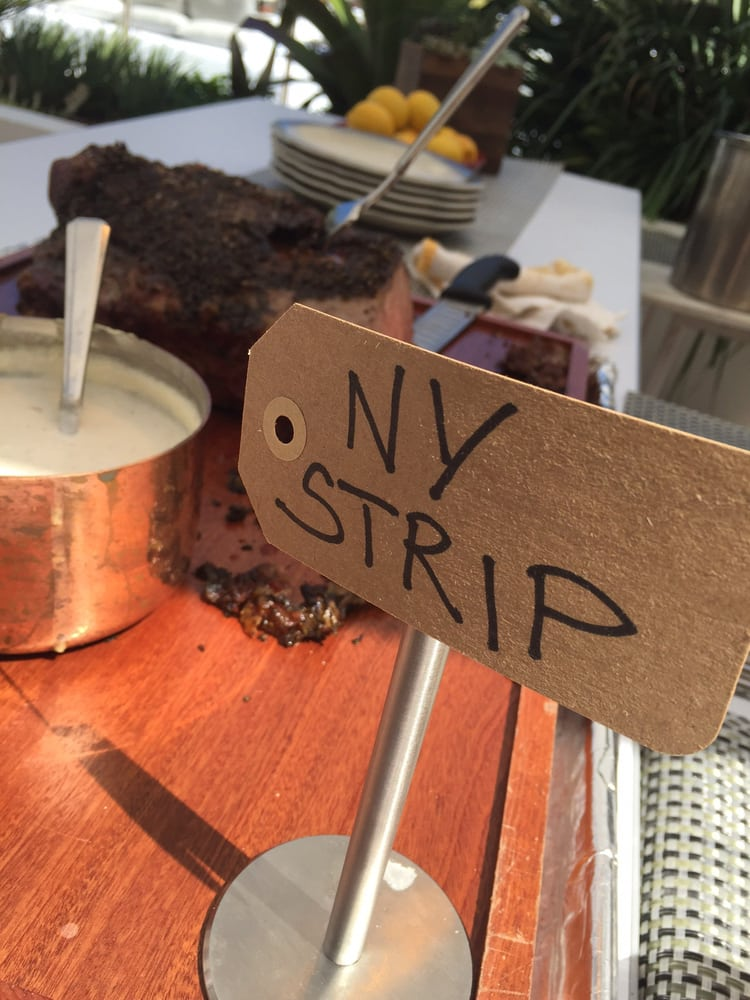Sunday brunch carving station ny strip with creamy