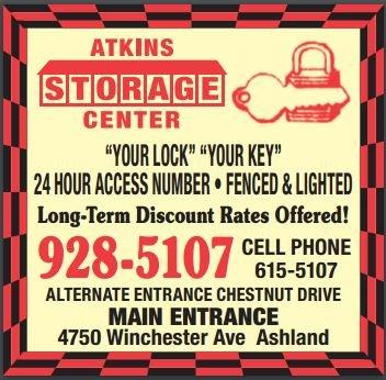 Atkins Storage Center: 4750 Winchester Ave, Ashland, KY