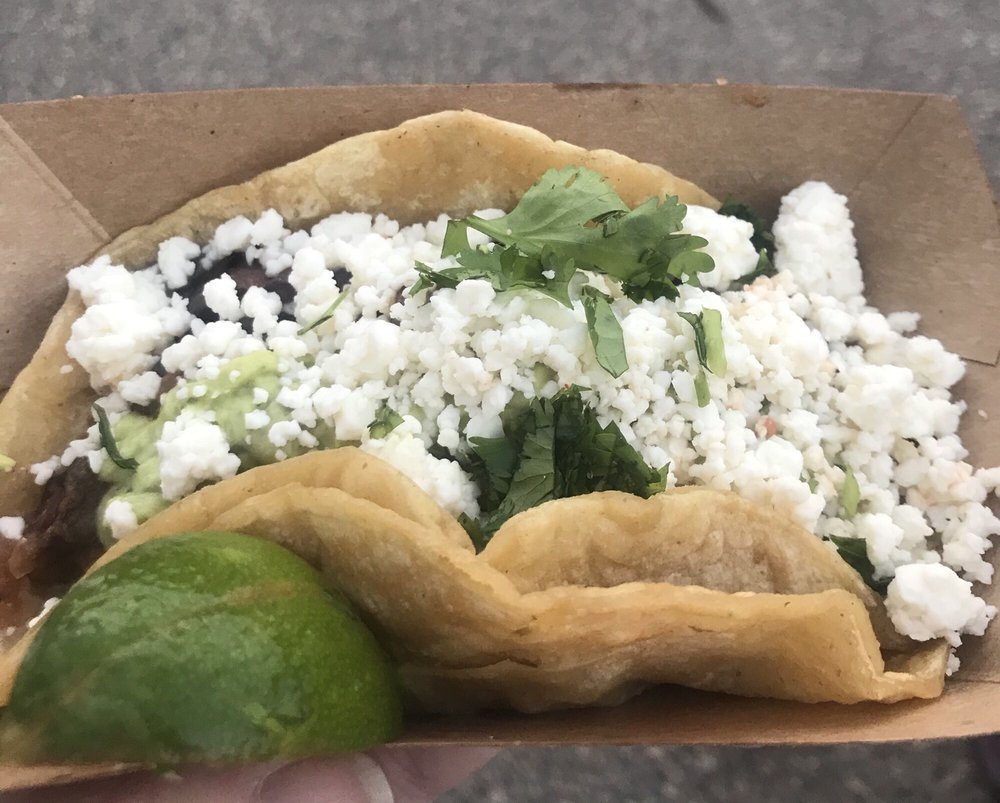 Food from Vehicle City Tacos