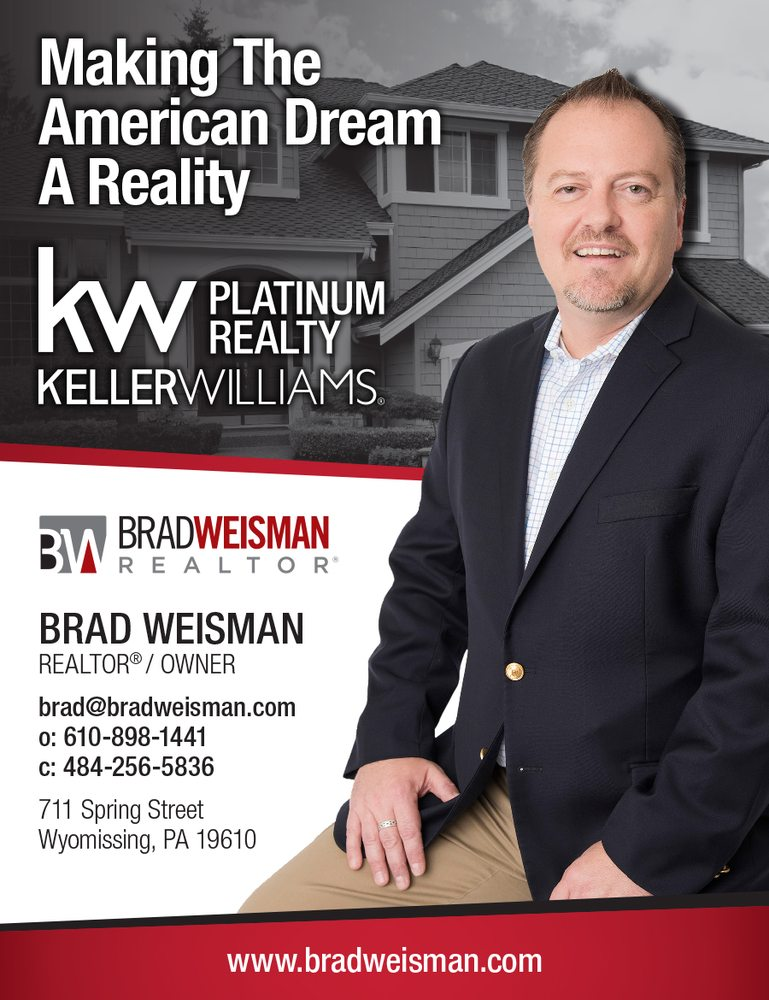 Brad Weisman - Keller Williams Platinum Realty: 711 Spring St, Wyomissing, PA