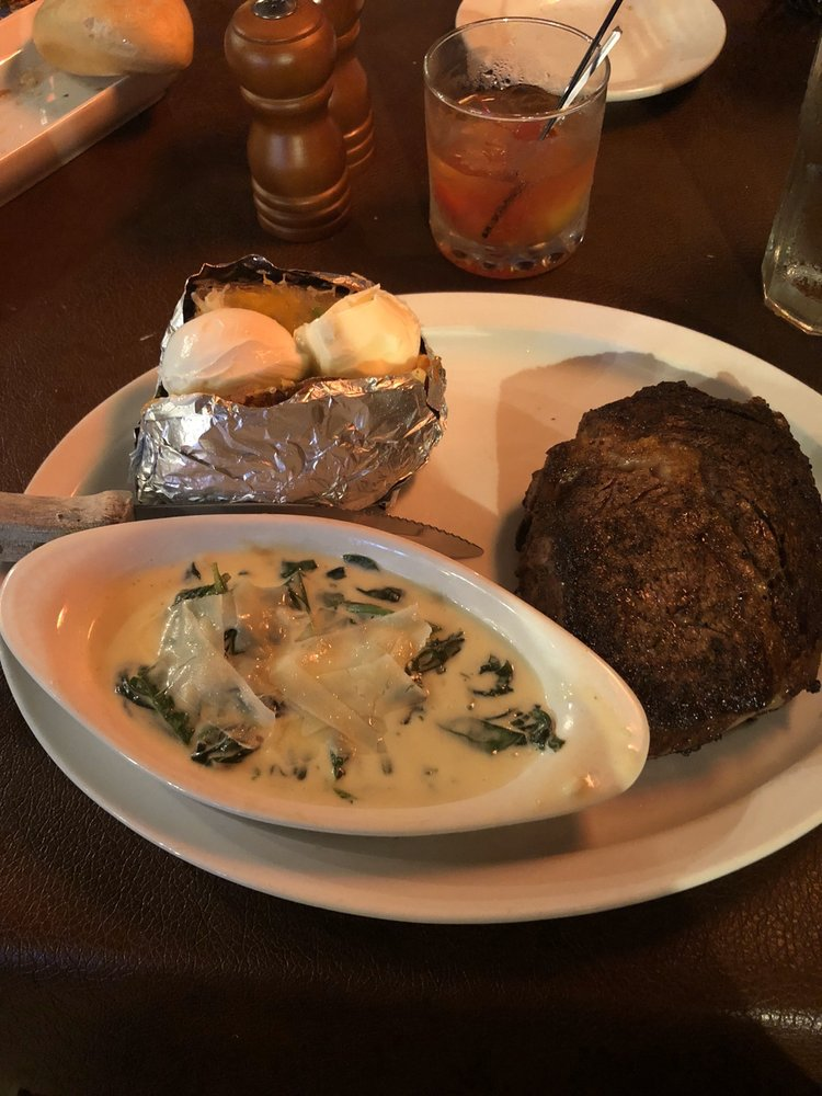 Food from Boots Steakhouse