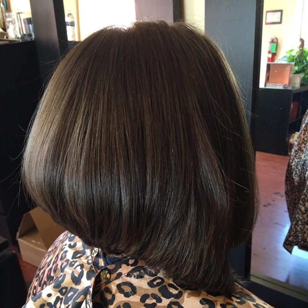 Short Back Long Front Hair Cut Yelp