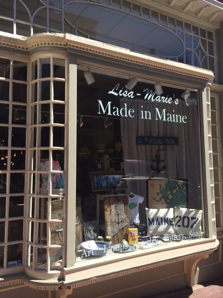Lisa marie s made in maine gift shops 170 front st for Portland baths
