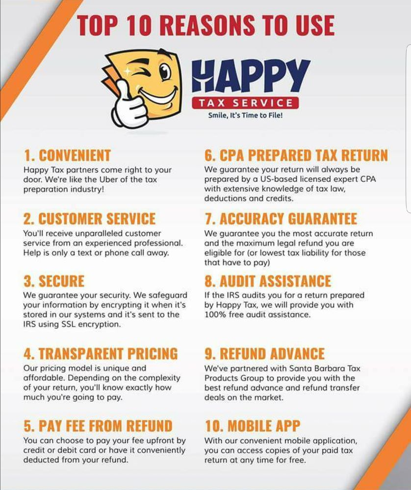 Happy Tax - Tax Services - Lancaster, CA - Phone Number - Yelp