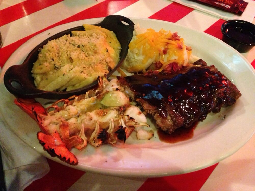 Half rack of ribs & lobster tail. (Loaded mash potatoes & Mac N Cheese as sides) It was amazing ...