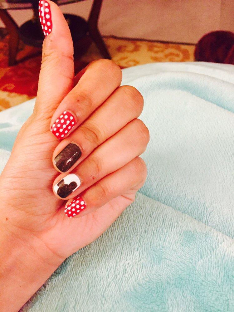 Disney theme nail design @lacquer day spa - Yelp