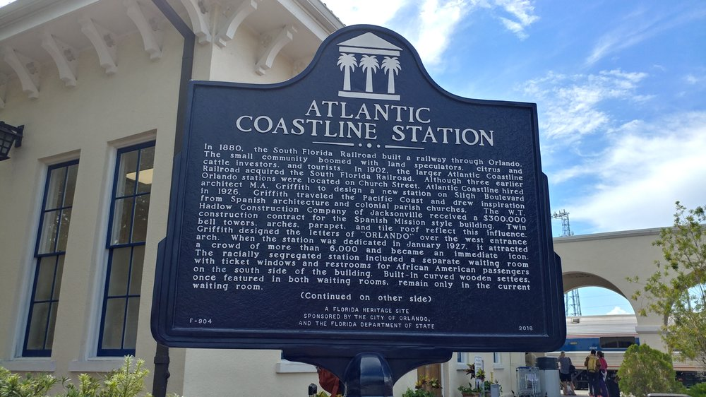 Atlantic Coastline Station Historical Marker